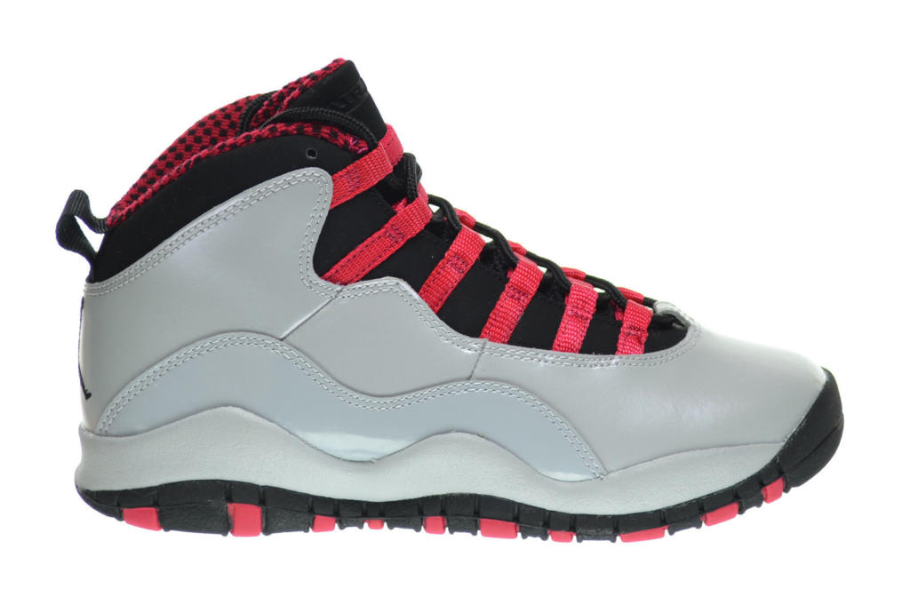 39922f4eeb439 Kids Air Jordan Retro 10 X Wolf Grey Legion Red 487211-009 GS
