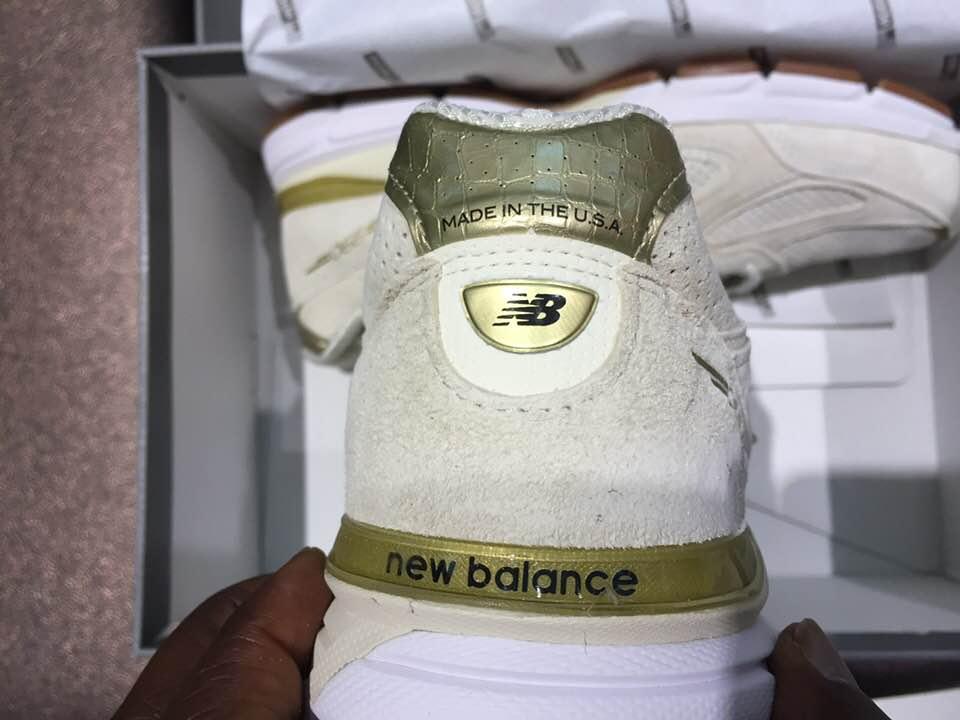 separation shoes 7a1e5 38a4e Off White New Balance 990 M990AG4 Angora| Available Now ...