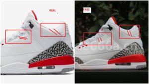 outlet store 6f7ea 3e247 Fake Air Jordan 3 III Katrina Spotted- Quick Tips To Identify Them –  Housakicks