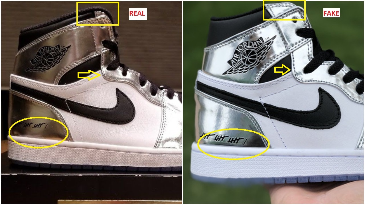 f5df4fc25748aa Fake Air Jordan 1 Kawhi Leonard Spotted-Quick Ways To Identify it ...