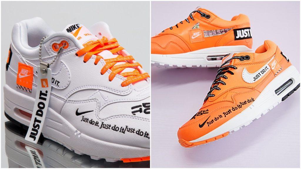 Nike Air Max 1 LX Just Do It Womens 917691 800 Orange