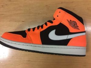 new product 4546b b6541 Quick Look At The Air Jordan 1 Mid Orange Shattered Backboard