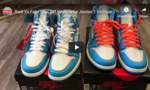 quality design 353dd e69b5 Real Vs Fake Air Jordan 1 UNC Off White Courtesy Of EDS Kicks