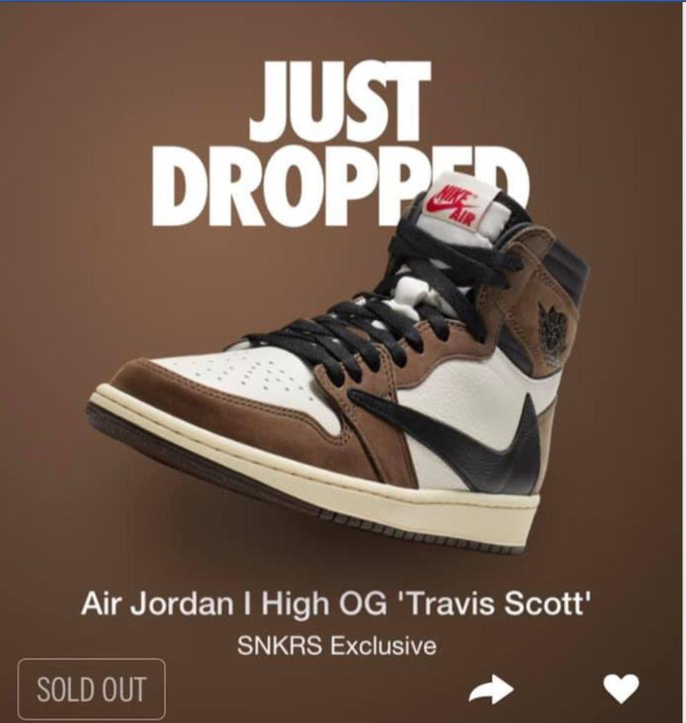 5646bd41b36cdf Travis Scott Air Jordan 1 Surprise Drop