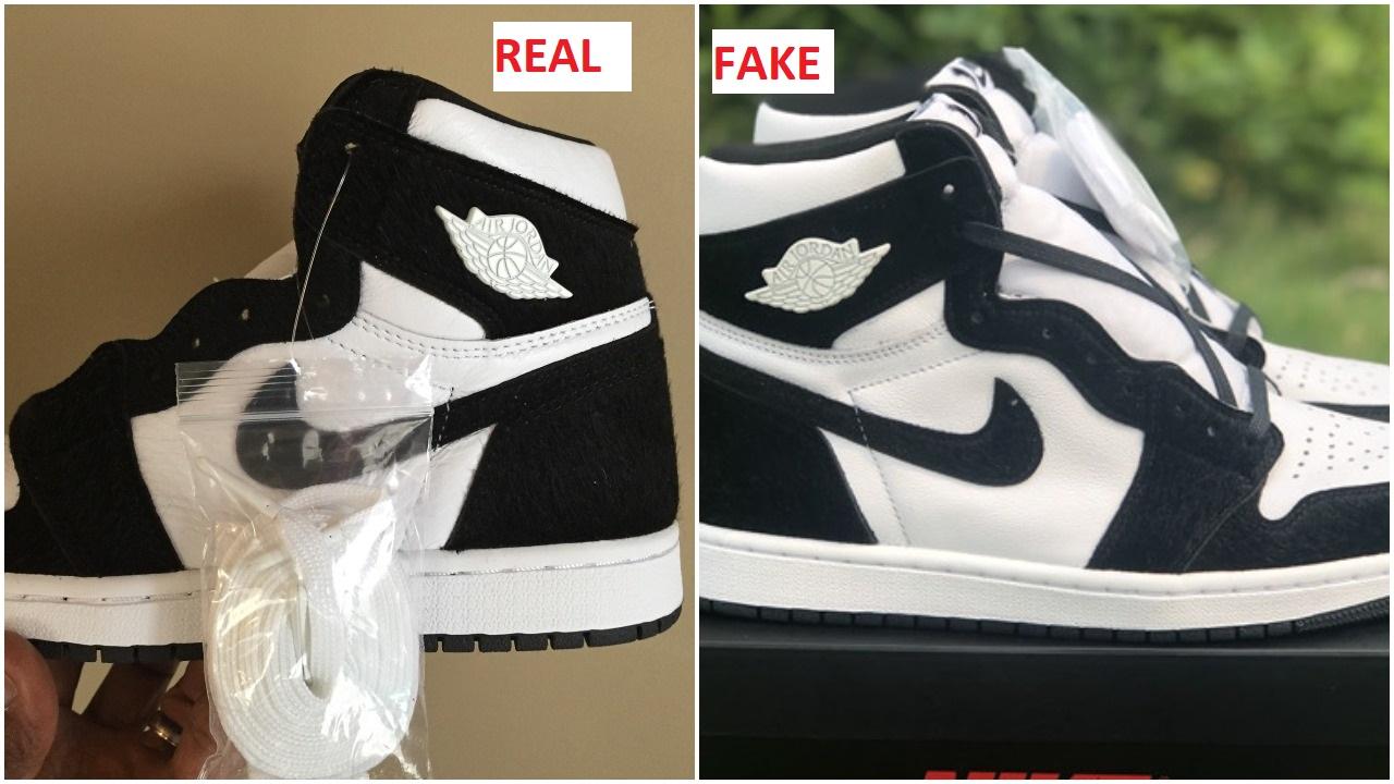 1a7c7ada Fake Air Jordan 1 Panda Pony Spotted- Quick Ways To Identify It – Housakicks