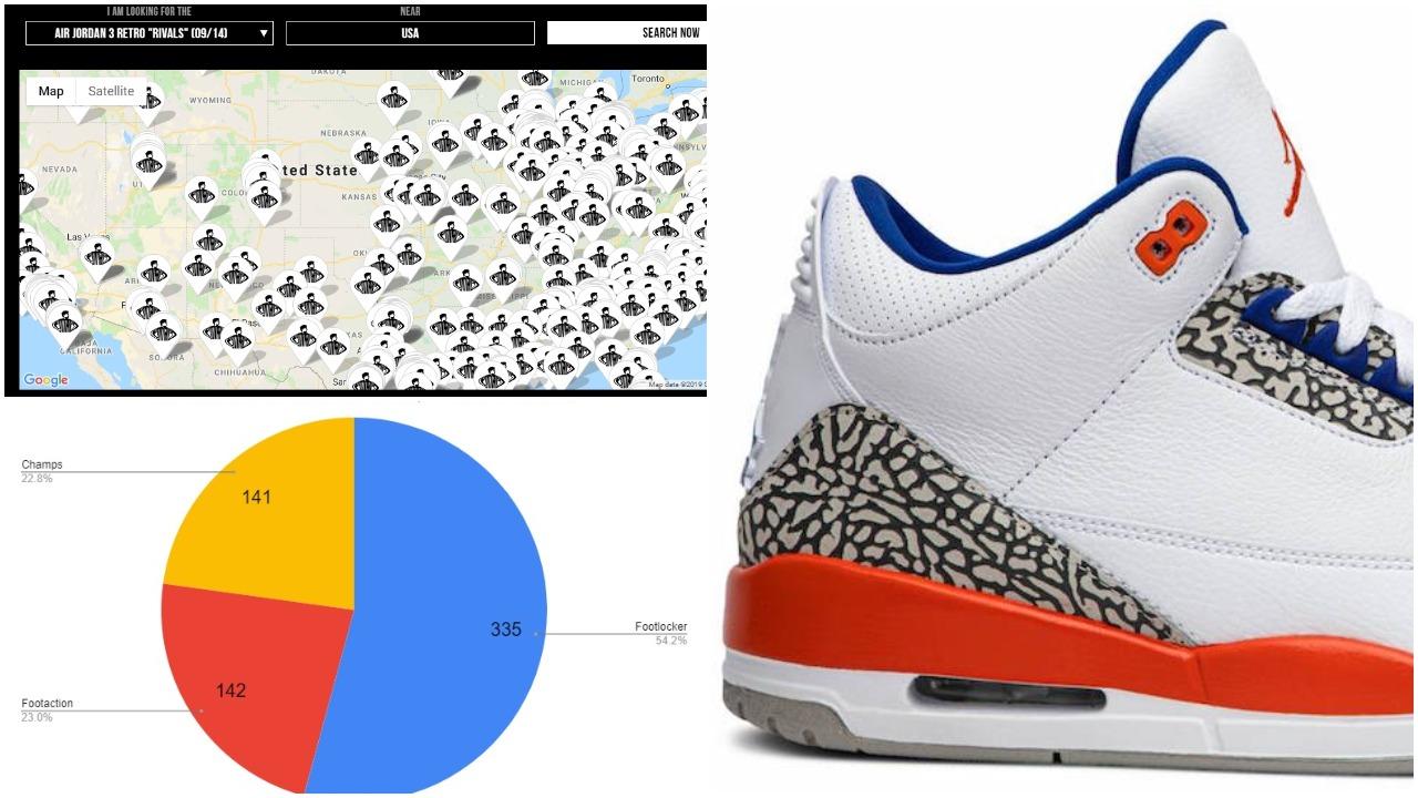 save off 0ac06 badcc Air Jordan 3 Knicks 136064-148 | How Many Pairs Made ...