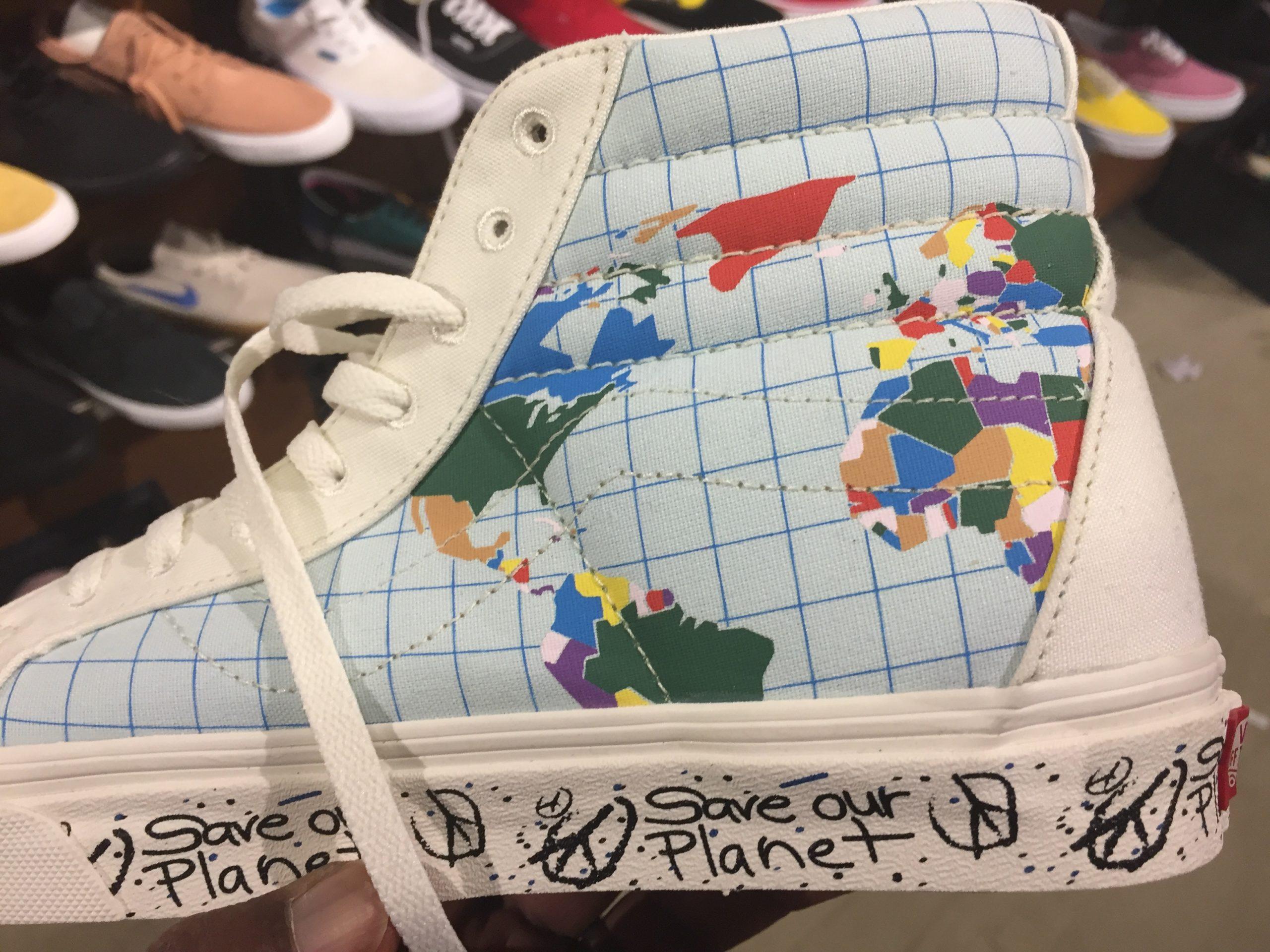 Vans Sk8 Hi Reissue Save Our Planet White Multicolor