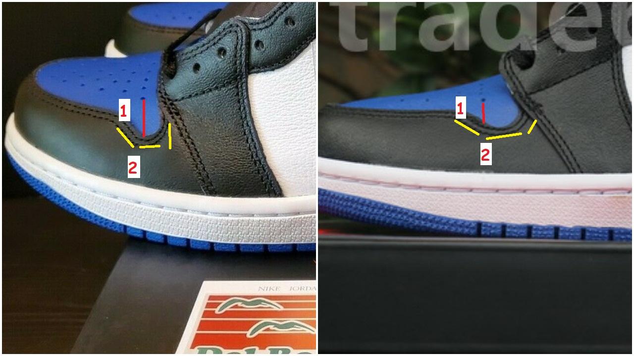 Real Vs Fake air Jordan 1 OG Royal Toe 1