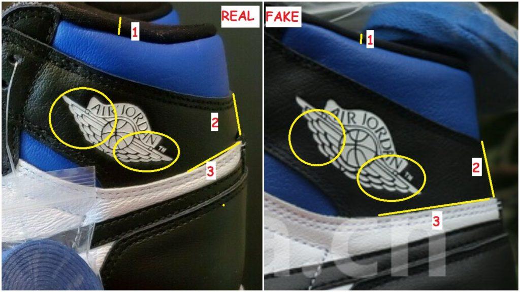 Real Vs Fake air Jordan 1 OG Royal Toe