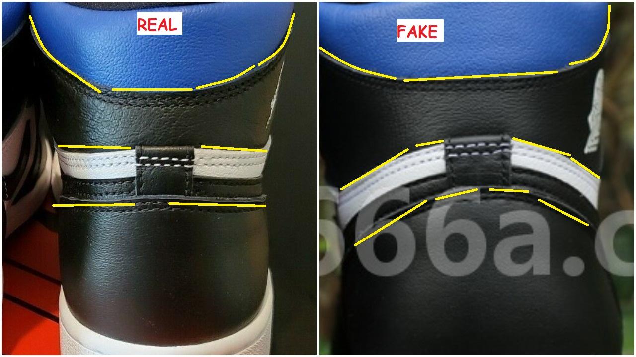 Real Vs Fake air Jordan 1 OG Royal Toe 2