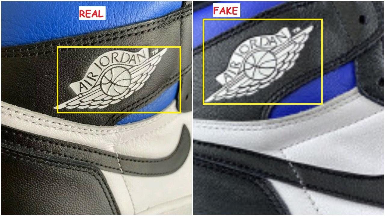 Real Vs Fake air Jordan 1 OG Royal Toe 5