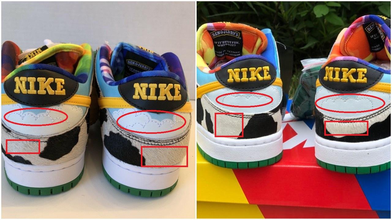 Real Vs Fake Nike Dunk SB Chunky Dunky 2