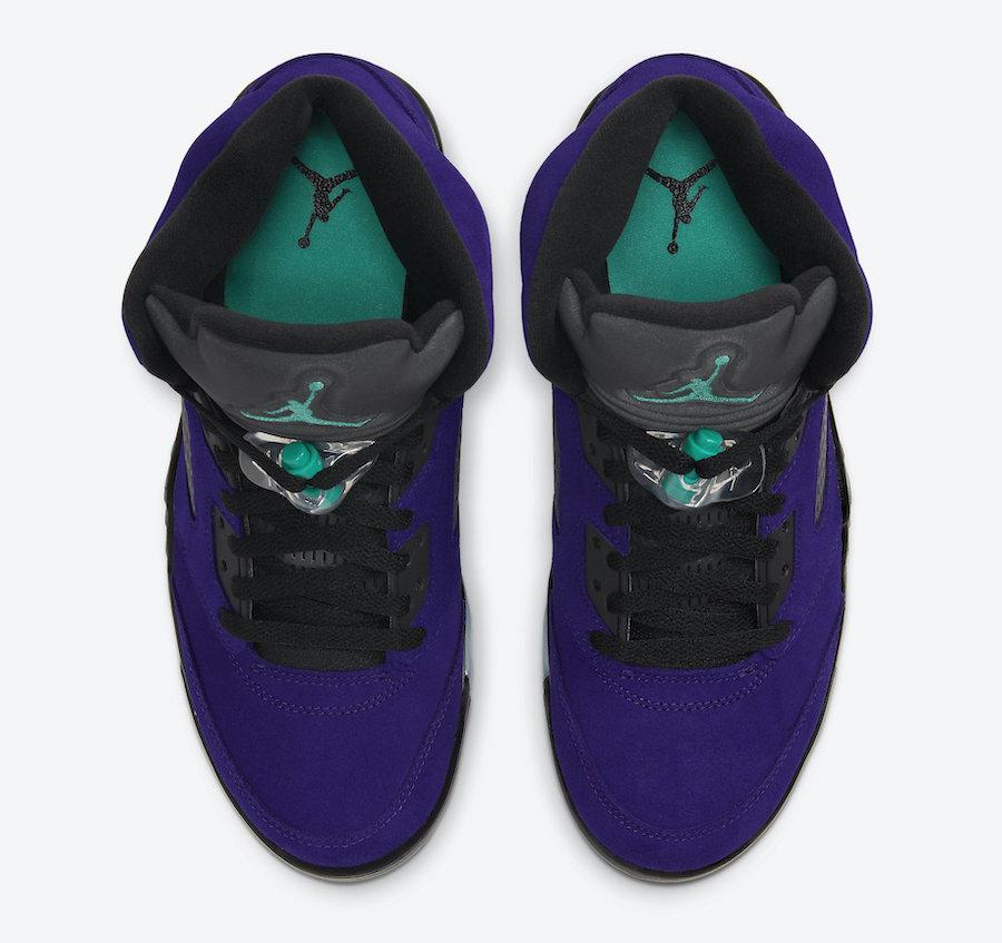 Air Jordan 5 Alternate Grape 136027-500 TOP VIEW