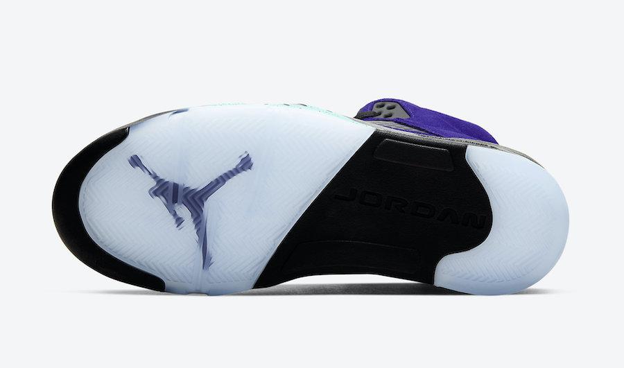 Air Jordan 5 Alternate Grape 136027-500 OUTSOLE