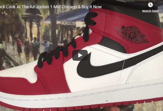Air Jordan 1 Mid Chicago 554724 173 & Buy It Now