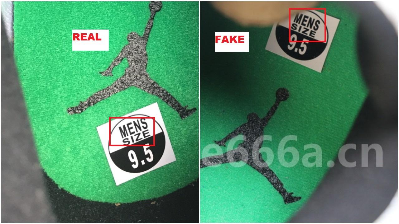 Real Vs Fake Air Jordan 13 Lucky Green 11