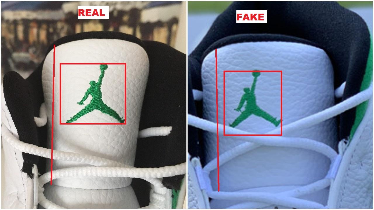 Real Vs Fake Air Jordan 13 Lucky Green 15