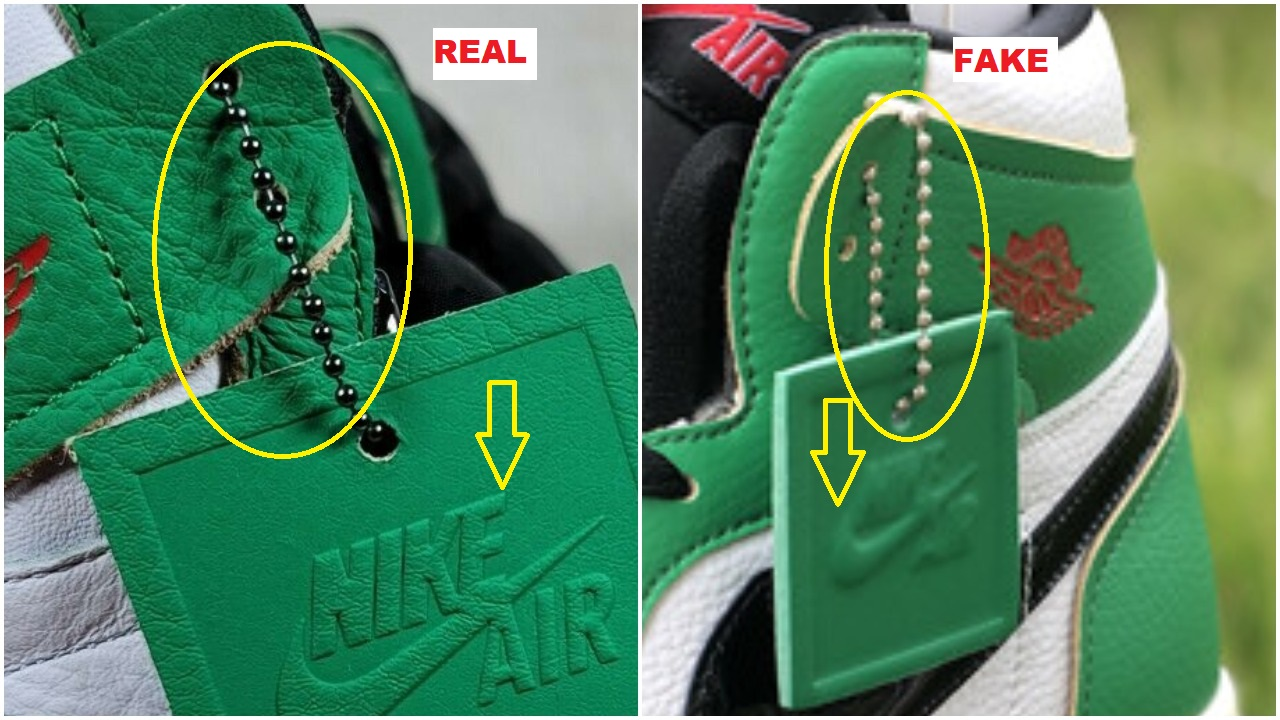 How to spot the fake air jordan 1 lucky green