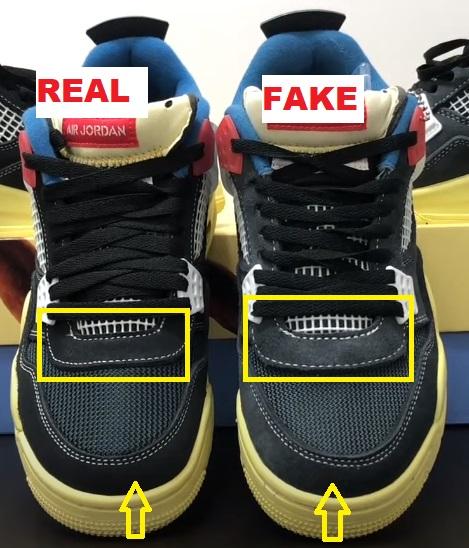 real vs fake air jordan 4 union off noir 1