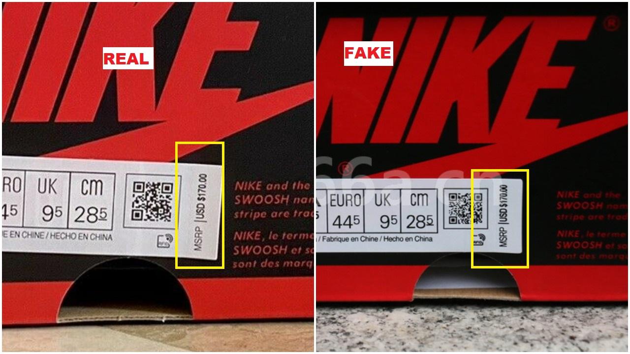 Real Vs Fake Air Jordan 1 Black Metallic Gold 5-More nuances on the box label