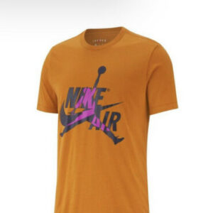 Jordan Men's Jumpman Classic Short Sleeve T Mustard Black Purple