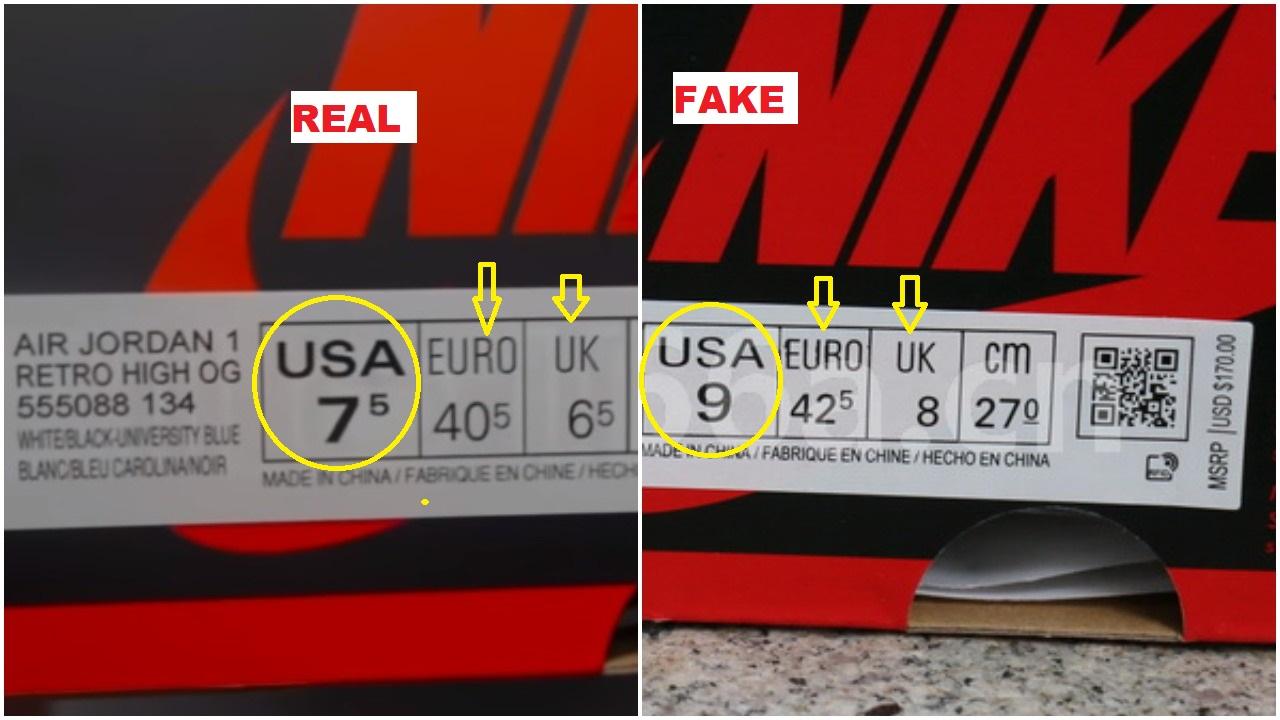 Real Vs Fake Air Jordan 1 University Blue 1