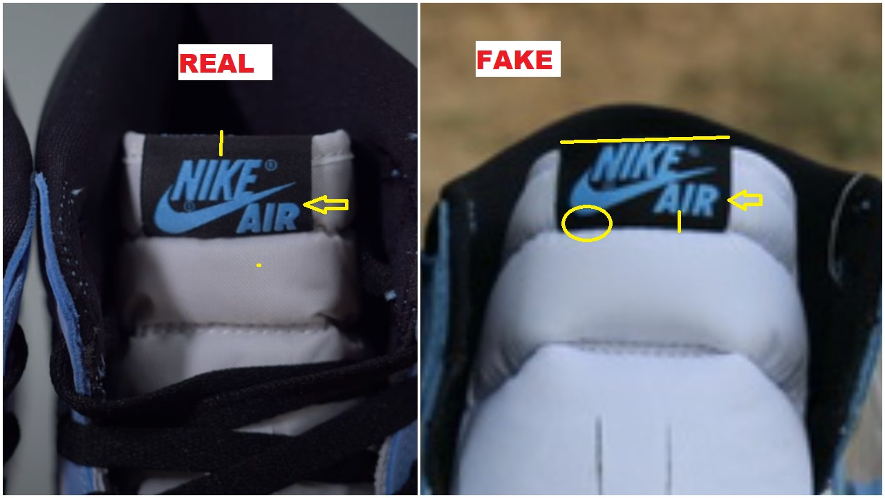 Real Vs Fake Air Jordan 1 University Blue 4