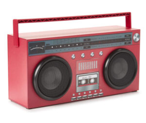 Pink Retro Boombox Radio LED Speakers Wireless Bluetooth Technology