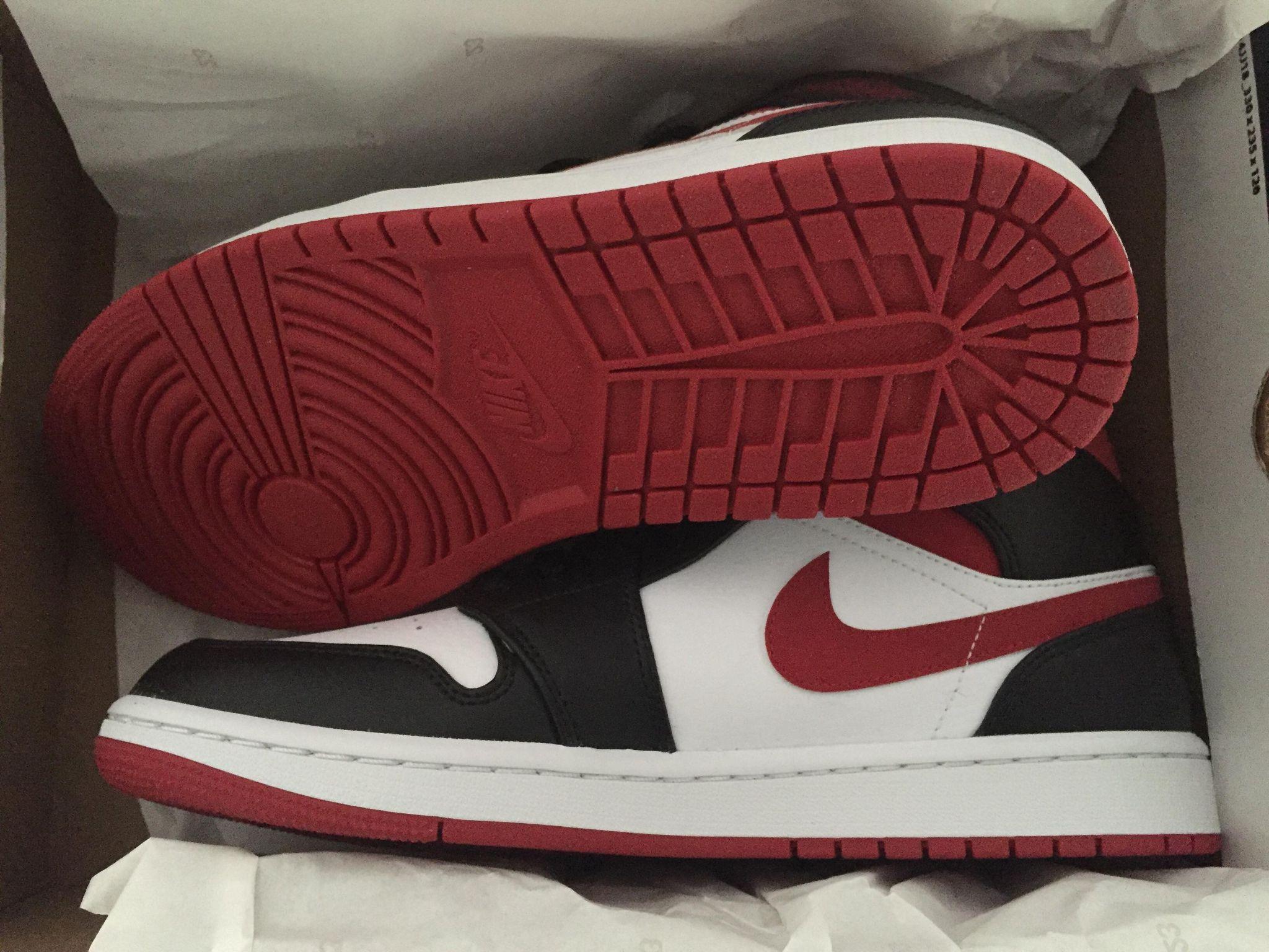 Air Jordan 1 Mid Gym Red Black 554724-122