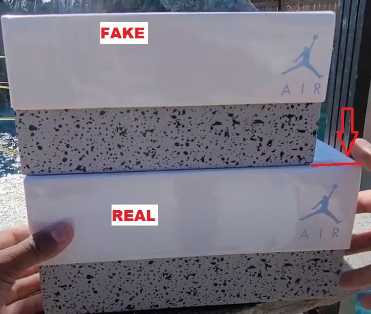 Real vs fake air jordan 4 unc university blue 1