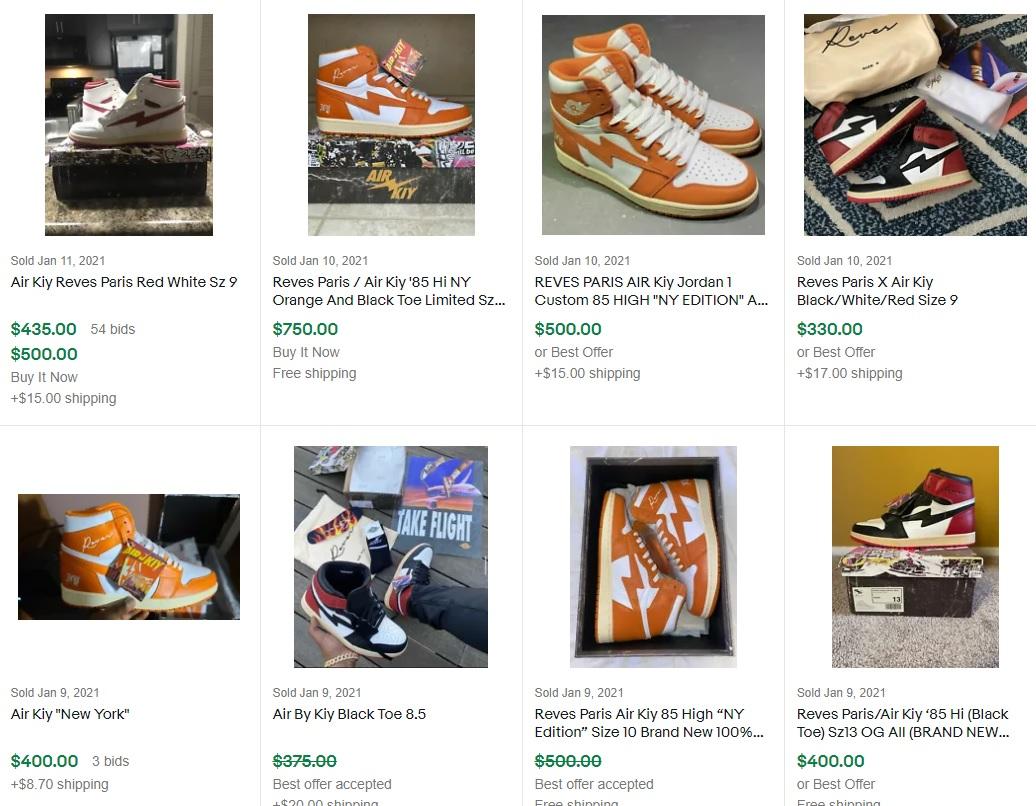 air-kiy sales record via ebay