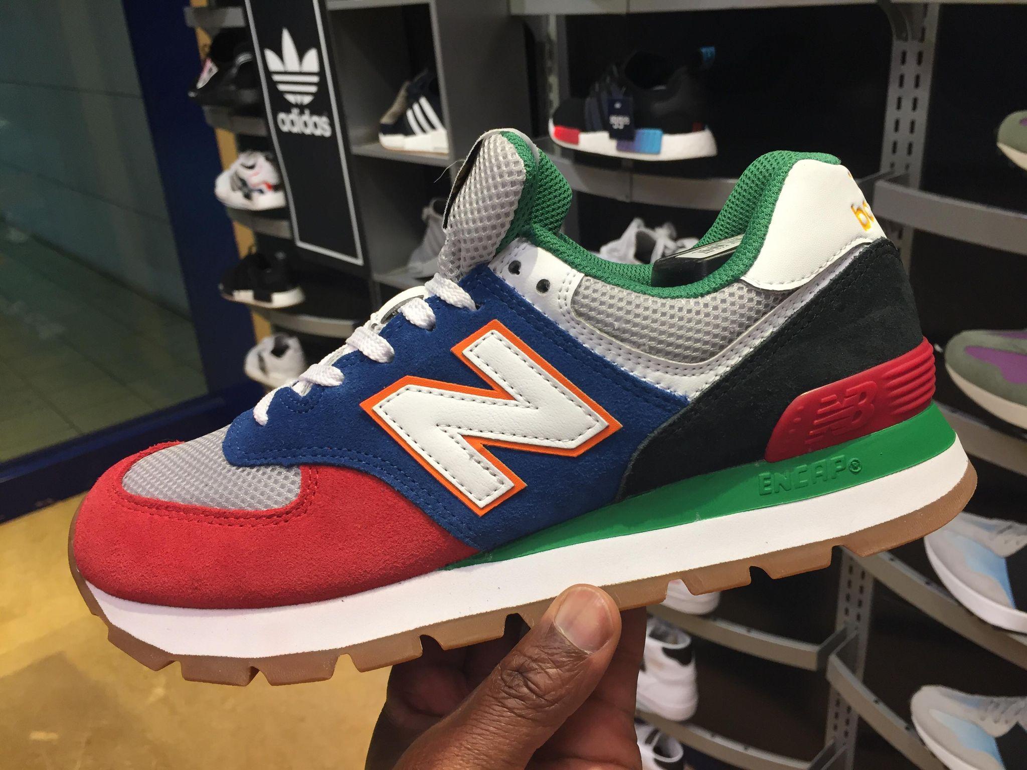 new balance 574 red green blue