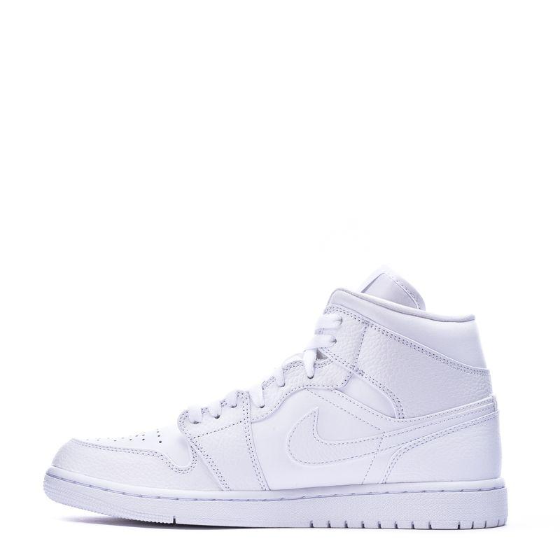 Nike Air Jordan 1 Mid Triple White 554724 130