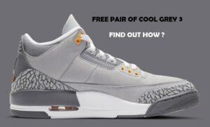 Win A Free Pair Of Air Jordan 3 Cool Grey