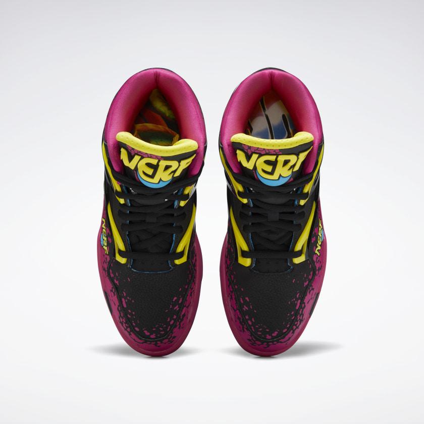 NERF x Reebok Pump Omni Zone II black pink 3