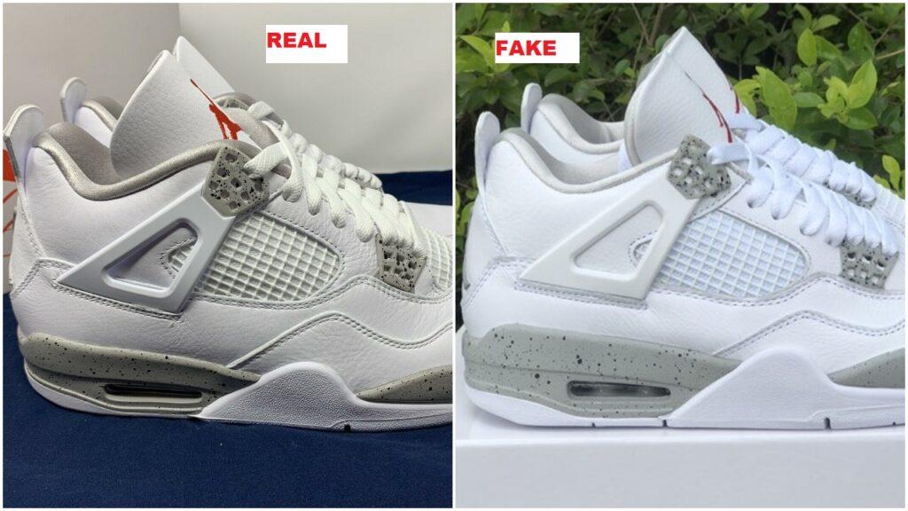 real vs fake air jordan 4 white oreo tech white 11