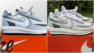 Real Vs Fake Nike LD Waffle Sacai Summit White Grey