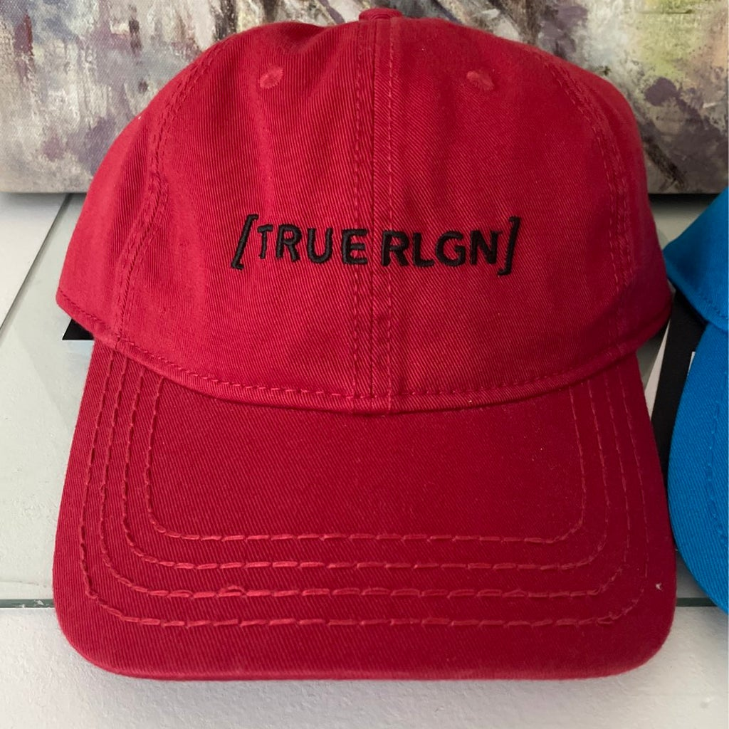 True Religion Red Core Bracket Baseball Cap