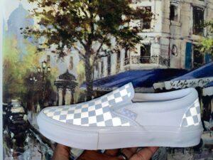 Vans Slip On Checkerboard Reflective